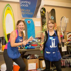 Rummage 2019 JLSB Members selling sporting goods